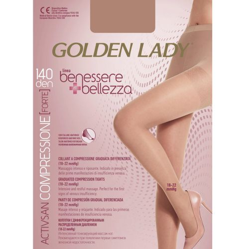 Collant BENESSERE & BELLEZZA 140 den Golden Lady playa da 1 PAIO
