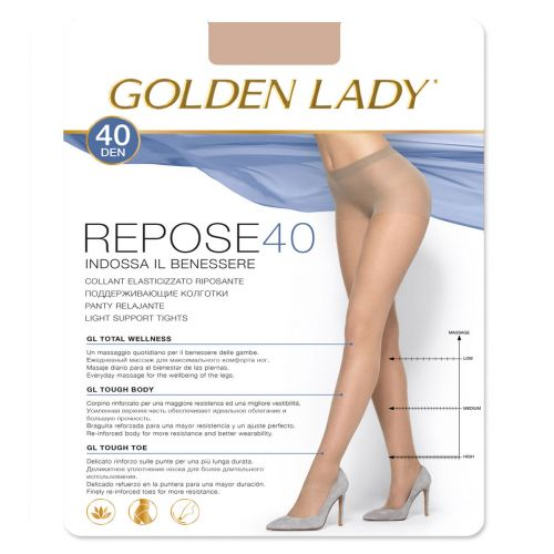 Collant Golden Lady Repose 40 den silver