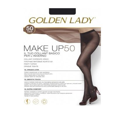 Collant Golden Lady make up 50 denari marrone