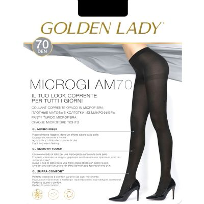 Collant MICROGLAM 70 nero Golden Lady