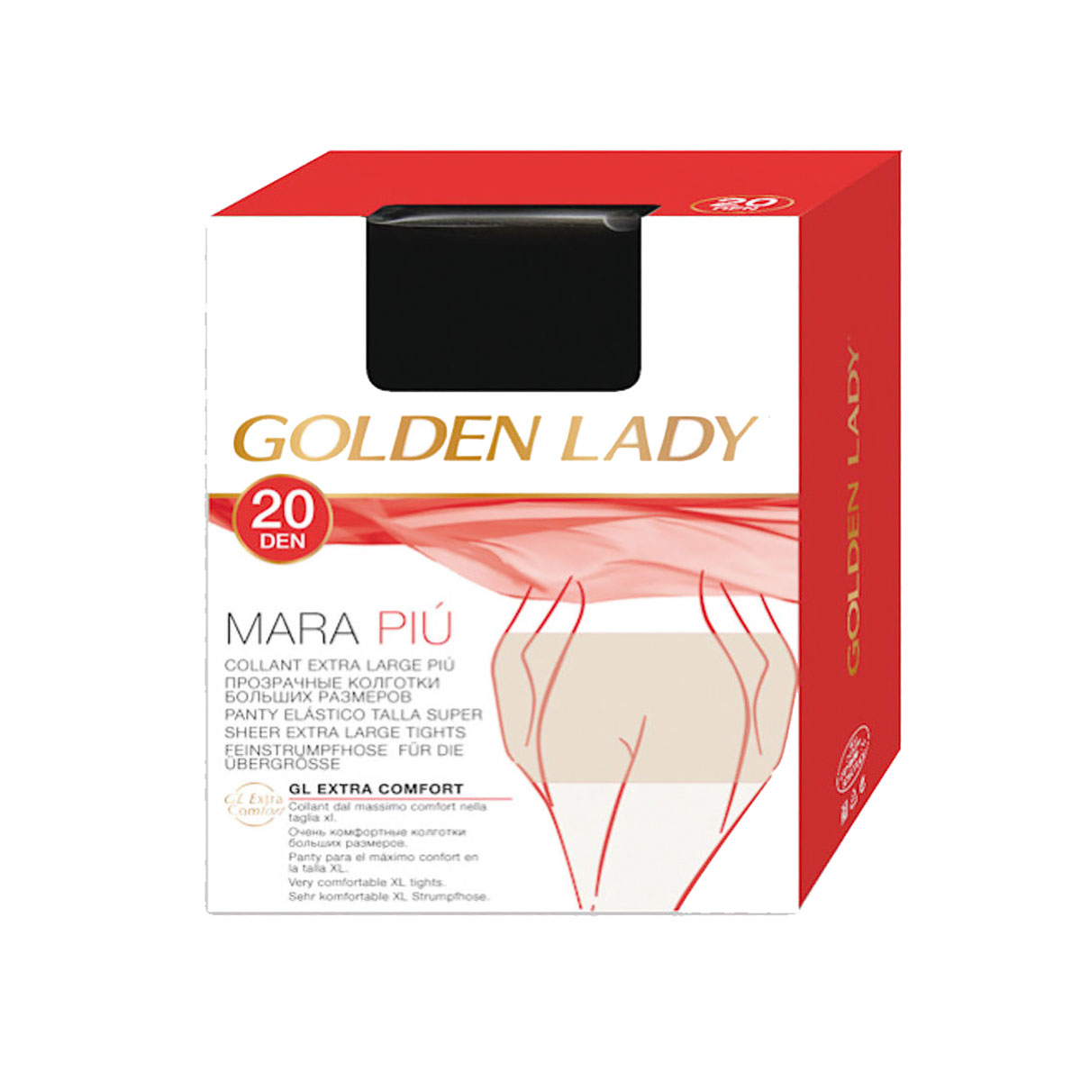 "GOLDEN LADY /""MARA 20/"" SET 20 COLLANT VELATI EXTRA LARGE COLORE CASTORO"