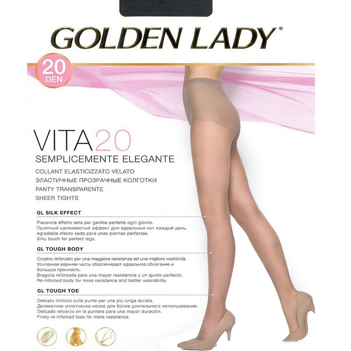 8ebe8f7ca Collant VITA 20 nero Golden Lady