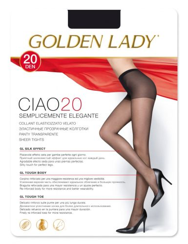 Collant ciao 20 Tg.XL Golden Lady nero