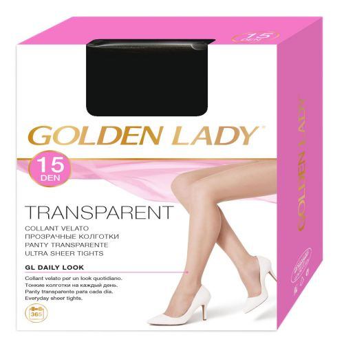Collant velato GOLDEN LADY TRANSPARENT 15 DEN nero