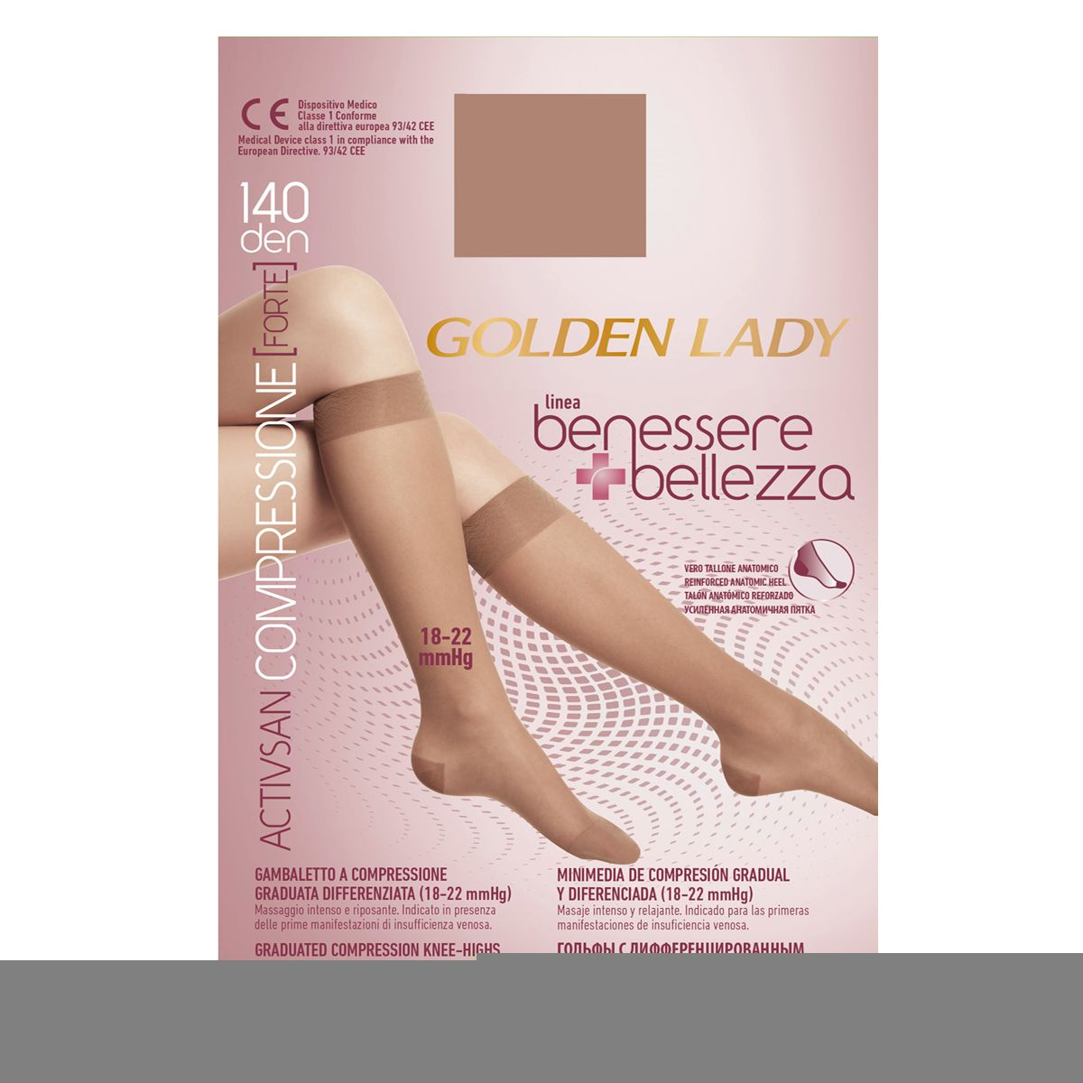 GOLDEN LADY GAMBALETTO BENESSERE /& BELLEZZA 140 DEN COMPRESSIONE GRADUATA