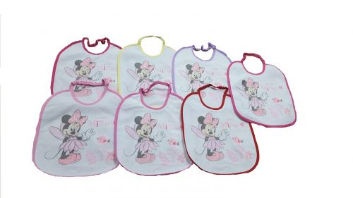 SET PZ.7 BAVETTE MINNIE WALT DISNEY 1218W
