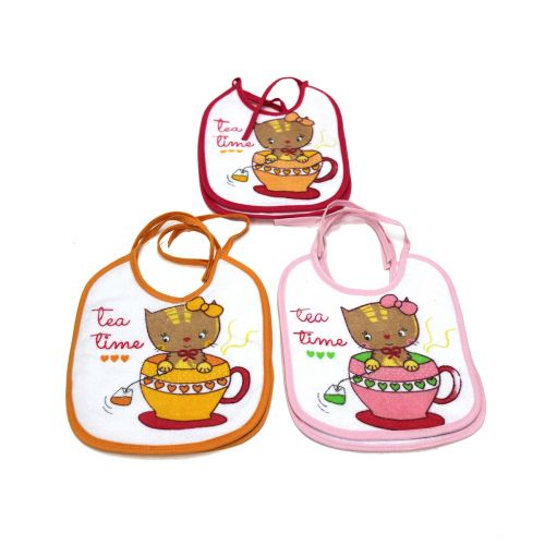 Set 6 bavaglini bavette bimba l.tea time ba9065f