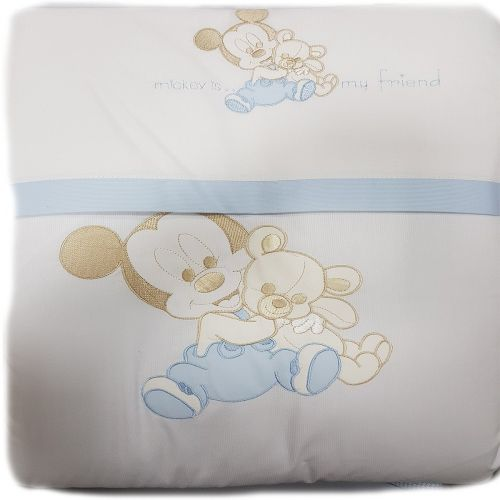 Set culla 6 pz Minnie Topolino Disney 19368 celeste