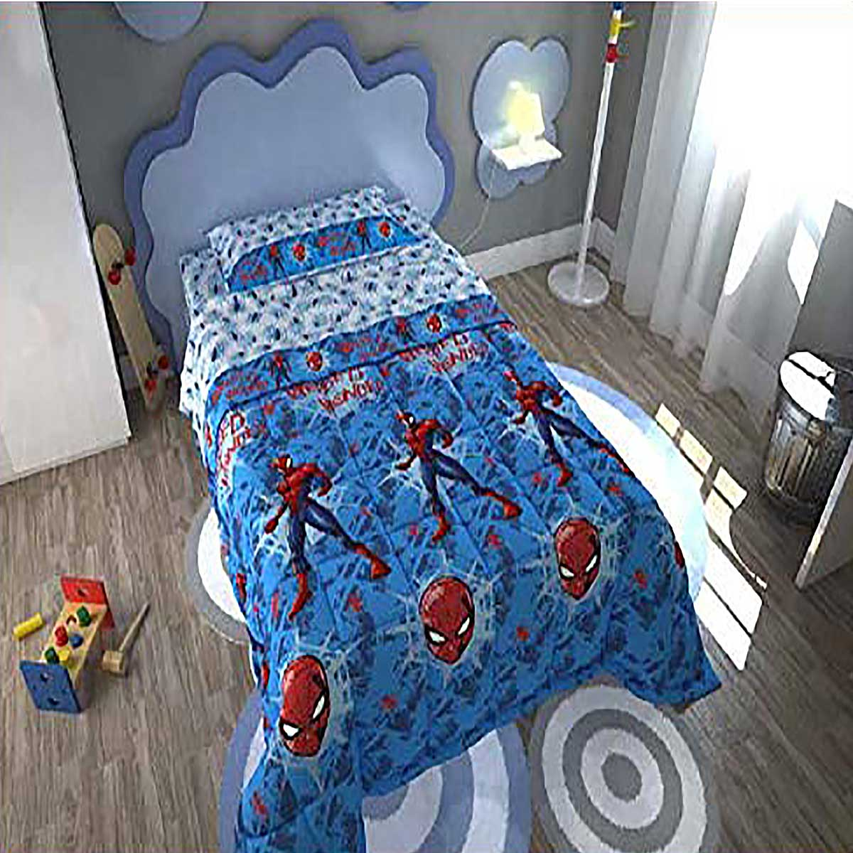 separation shoes 7633e d5a77 Trapunta piumone letto singolo 170X250 bambino SPIDERMAN ...